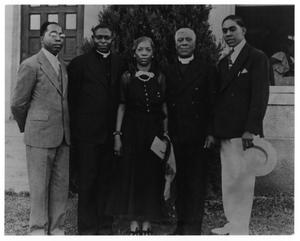 [Photograph of Artemisia Bowden with Family and Guests]