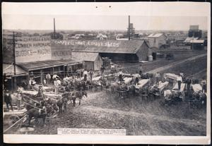Primary view of object titled '[Many wagons on a market day in Killeen]'.