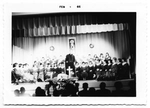 Primary view of object titled '[Father Sherrill Smith and the SPC Choir]'.