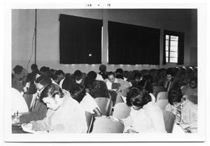 Primary view of object titled '[Students Taking an English Exam]'.