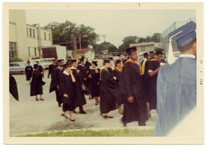 Primary view of object titled '[Faculty Waiting to Enter Graduation Ceremony]'.