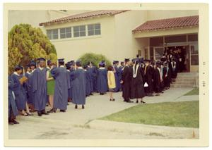 Primary view of object titled '[Students and Faculty Before Graduation Ceremony]'.
