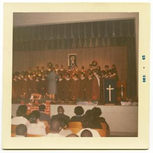 Primary view of object titled '[Edgewood Choir at Christmas Assembly]'.