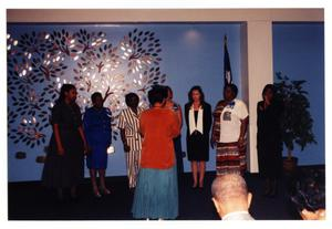 Primary view of object titled 'Women's Chorus at Alumini Reception'.