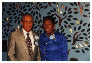 Primary view of object titled 'Patricia J. Williams Congratulating Distinguished Award Winner'.