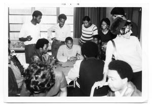 Primary view of object titled 'Students Playing Dominoes In The Student Center 1970'.