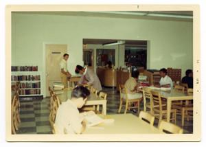 Primary view of object titled '[Students in the Library]'.