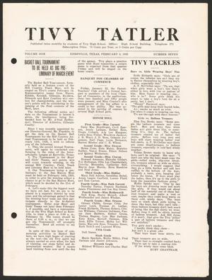 Tivy Tattler, Volume 1, Number 7, February 2, 1925