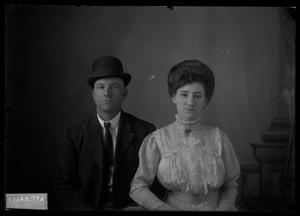 Primary view of object titled '[Man and Woman]'.