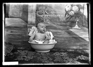 Primary view of object titled '[Baby in Bowl]'.