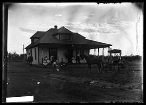 Primary view of object titled '[Group on Porch]'.