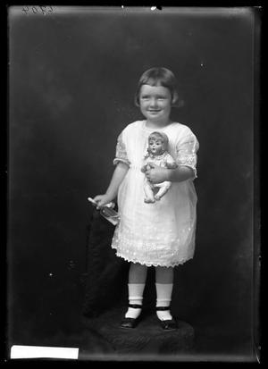 Primary view of object titled '[Girl with Doll]'.