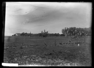 Primary view of object titled '[Grandstands in a Field]'.