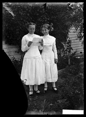 Primary view of object titled '[Two Young Girls]'.