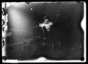 Primary view of object titled '[Baby in Stroller]'.