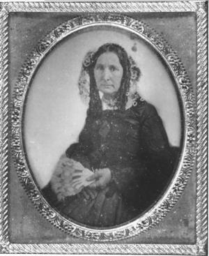 Primary view of object titled '[Photograph of Jane Long holding a fan]'.