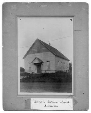Primary view of object titled 'Floresville German Luthern Church'.