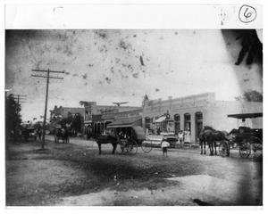 Primary view of object titled 'Street Scene, Floresville, Texas'.