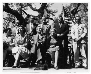 Primary view of object titled 'Connally Family on the Courthouse Lawn'.