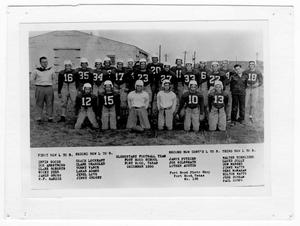 Primary view of object titled 'Elementary Football Team, Fort Hood School, 1950'.