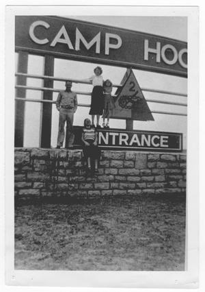 Primary view of object titled '[Camp Hood entrance]'.