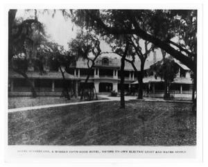 Primary view of object titled '[Photograph of Hotel Sutherland]'.