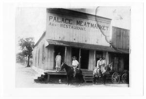 Primary view of object titled '[Palace Meat Market and Restaurant]'.