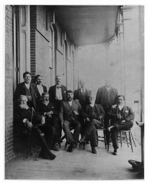 Primary view of object titled '[Ten Men in Suits]'.