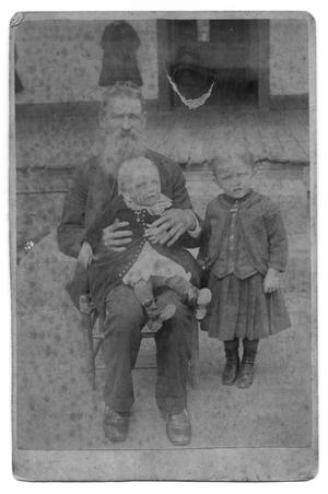 [Old Man with Two Children]