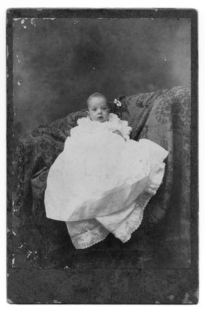 Primary view of object titled '[Baby in Large White Garment]'.