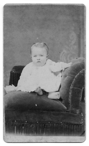 Primary view of object titled '[Baby on a Plush Couch]'.
