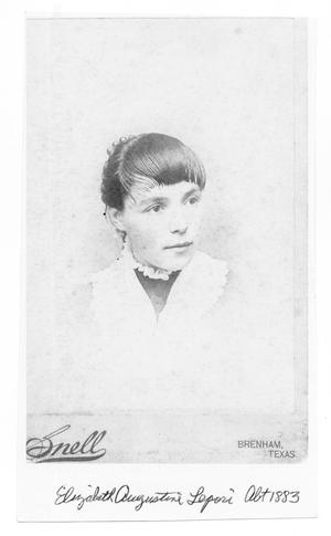 Primary view of object titled '[Photograph of Elizabeth Augustine Lepori]'.