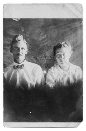 Primary view of object titled 'Postcard of Robert Carl Alexander and Wife'.