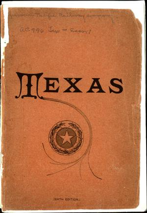 Primary view of object titled 'Statistics and information concerning the state of Texas: with its millions of acres of unoccupied lands...'.