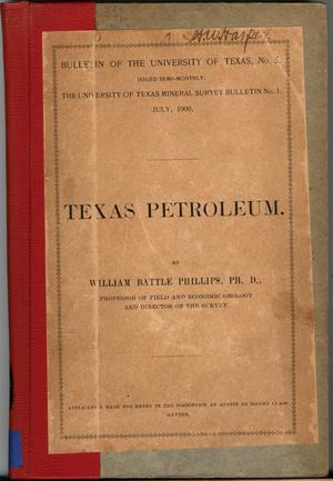 Primary view of object titled 'Texas Petroleum.'.