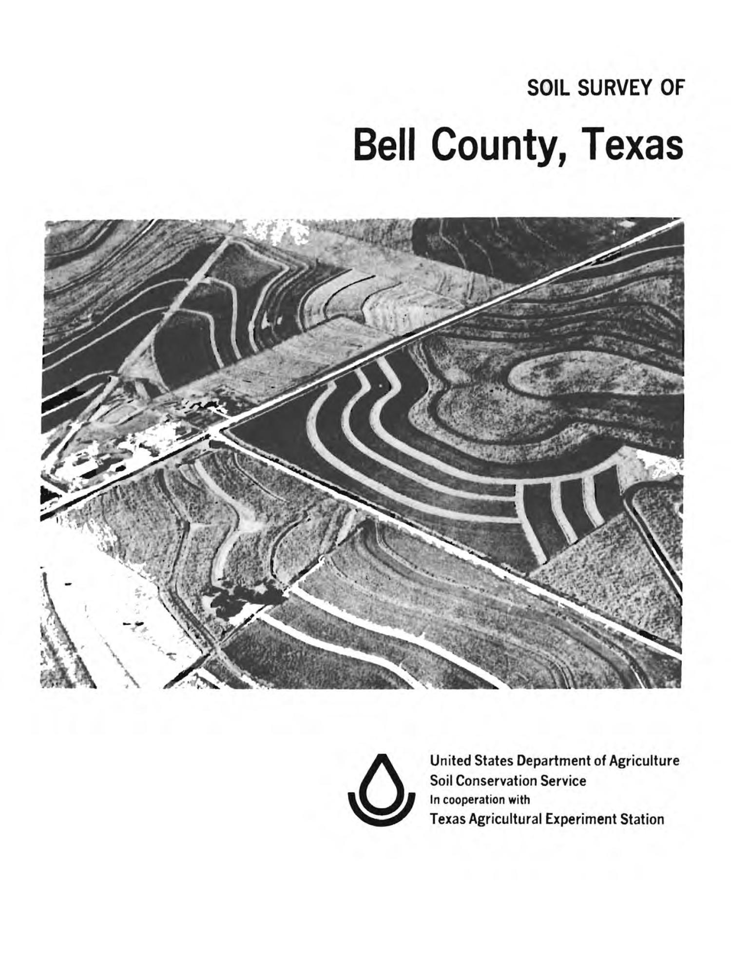 Soil Survey of Bell County, Texas                                                                                                      Front Cover