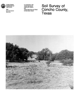 Primary view of object titled 'Soil Survey of Concho County, Texas'.