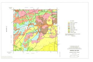 Primary view of object titled 'General Soil Map, Archer County, Texas'.