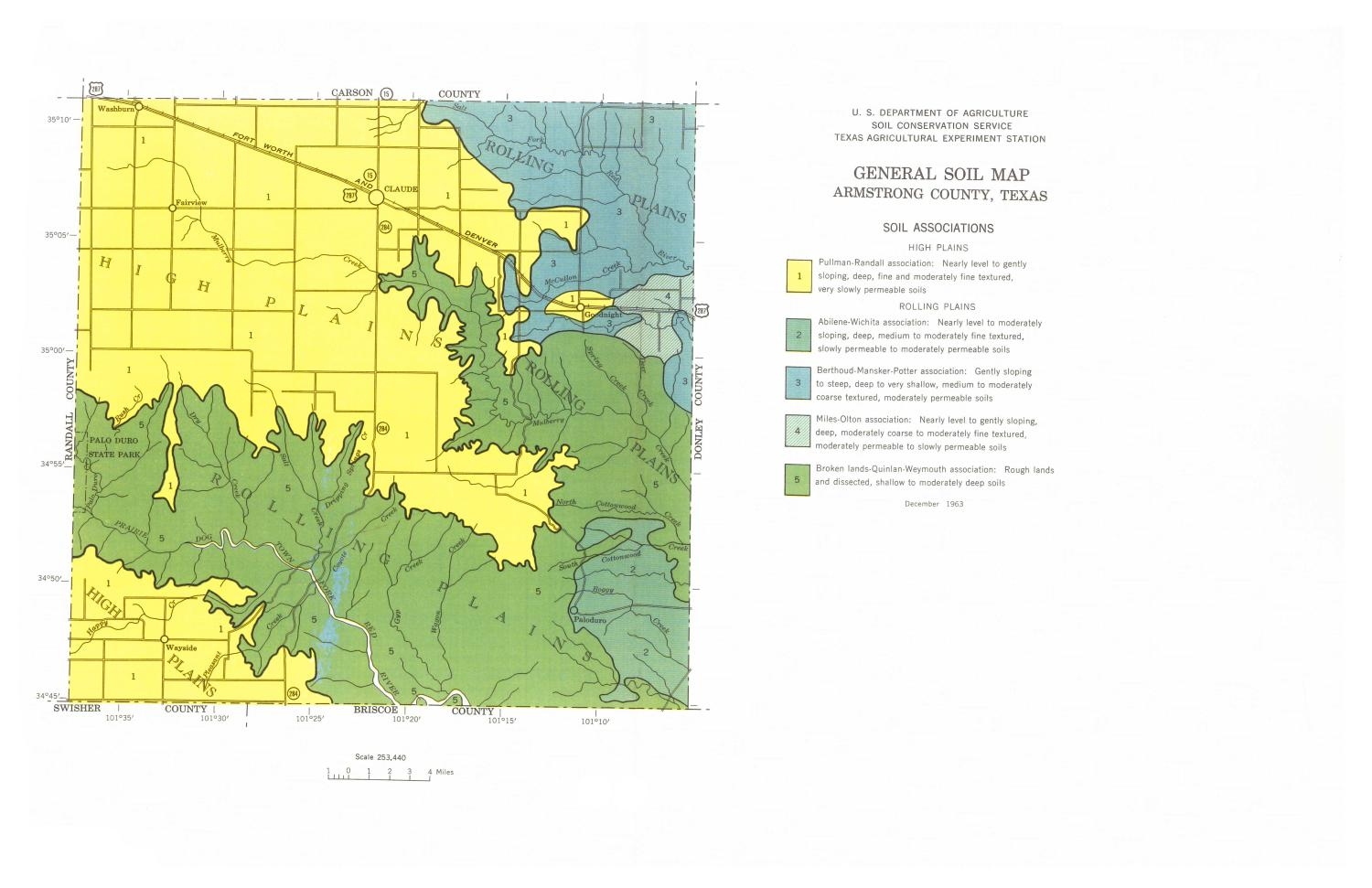 General Soil Map, Armstrong County, Texas                                                                                                      [Sequence #]: 1 of 1