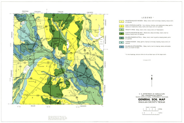Map Of Texas Dallas Area.General Soil Map Dallas County Texas The Portal To Texas History