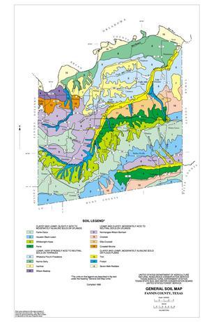 General Soil Map, Fannin County, Texas