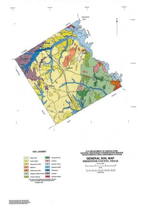 Primary view of object titled 'General Soil Map, Freestone County, Texas'.