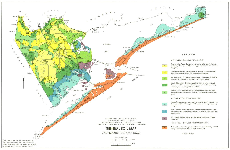 General Soil Map Galveston County Texas  The Portal to Texas