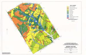 Primary view of object titled 'General Soil Map, Limestone County, Texas'.