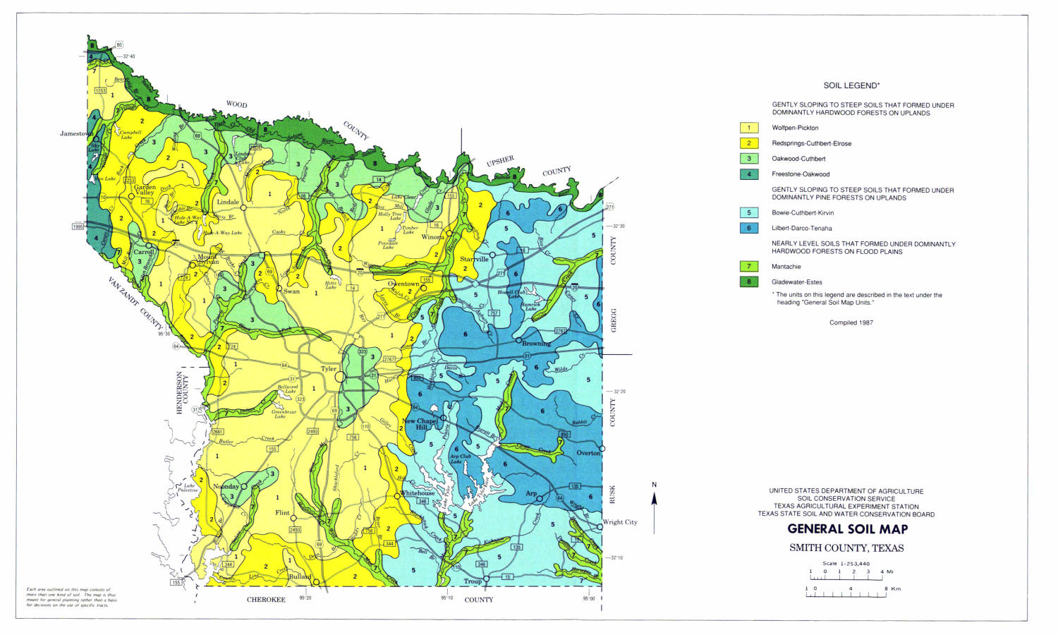 General Soil Map, Smith County, Texas - The Portal to Texas ... on leflore county map site, tyler map site, white county map site,