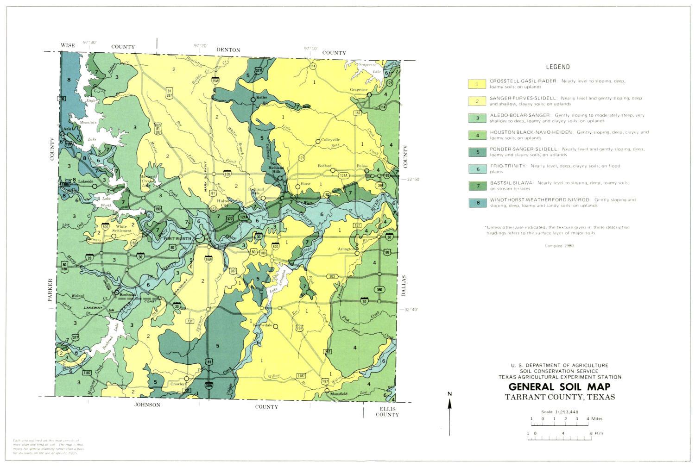General Soil Map Tarrant County Texas The Portal To Texas History - County maps texas