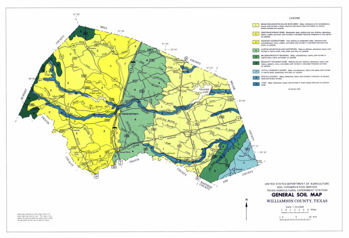 Texas Soil Ph Map General Soil Map, Williamson County, Texas   The Portal to Texas