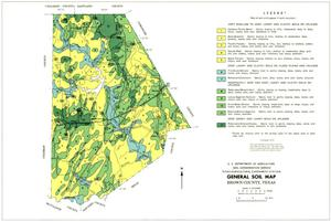 Primary view of object titled 'General Soil Map, Brown County, Texas'.
