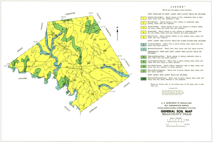 General Soil Map Mills County Texas The Portal To Texas History - Map-of-us-paper-mills