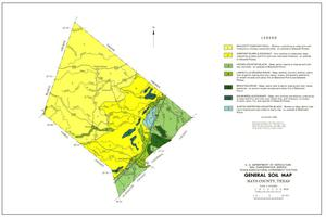Primary view of object titled 'General Soil Map, Hays County, Texas'.